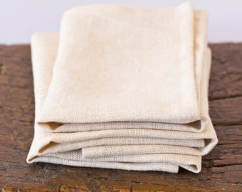 Cream 100% Hemp Napkins – Unbleached Hemp – Eco-friendly Table Linen