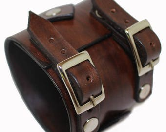 JOHNNY DEPP style leather bracelet genuine leather wristband mens bracelet first class leather cuff brown