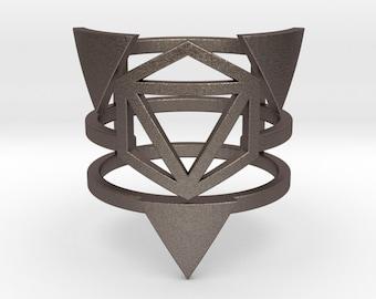 Steel Zero Point Multiband Ring
