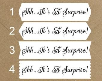 Envelope Seals / Stickers - It's a Surprise # 733 Qty: 30 Stickers