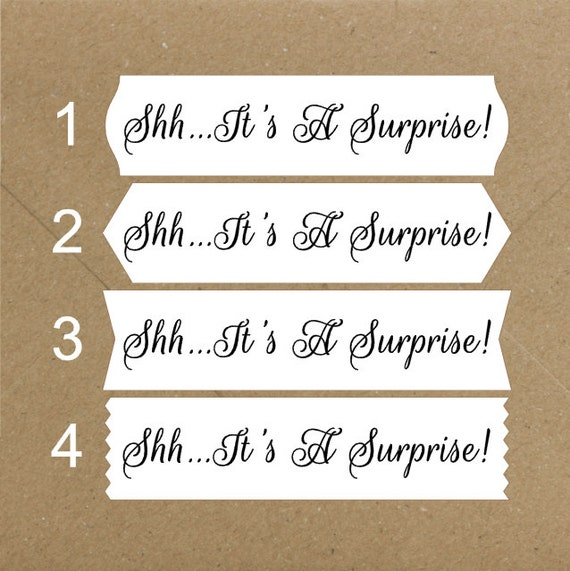 Envelope Seals / Stickers - It's a Surprise # 733 Qty: 40 Stickers
