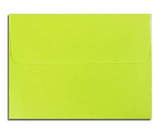20 Lime Green Envelopes in A7, A6, A2 & A1 Sizes