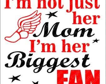 Track Mom| Biggest Fan| SVG| DXF| EPS| Png Cut File| Track| Running| Track and Field| Silhouette| Cricut| Vector File Instant Download