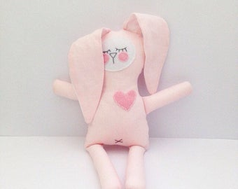Emma the sweet sleepy plush bunny toy