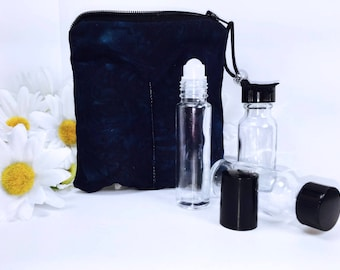 Mysterious Blue Vape Juice Case e-cig Juice Storage 2-3 Slot Essential Oil Case Batik Essential Oil Travel Case Vape Tank Bag