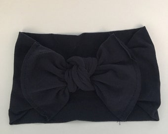 Solid navy knot bow