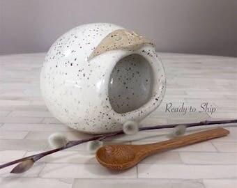 Pottery, Pottery Salt Pig, Pottery Salt Holder, Pottery Salt Bowl, Wheel Thrown Pottery, Functional Pottery, Kitchen Item, Gift, Salt Jar