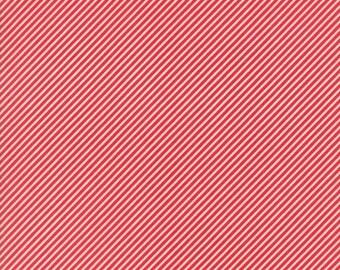 1 Yard Bonnie and Camille Basics by Moda -55071-31 Scrumptious Stripe Red