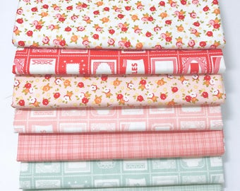 SALE!! 1 Yard Bundle Farm Girl by October Afternoon for Riley Blake Designs 7 Fabrics