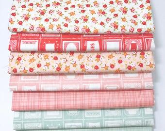 SALE!! 1 Yard Bundle Farm Girl by October Afternoon for Riley Blake Designs 7 Fabrics