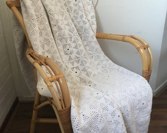 Handmade crochet   cotton bedspread