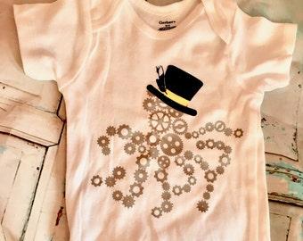 Kraken One Piece Baby Shirt Steampunk Baby Clothes Steampunk Baby Gift Octopus Baby Shirt Baby One piece Body suit