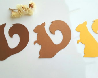 Squirrel die cuts,Acorn die cuts,Acorn tags,squirrel tags,Fall decorations,Winter Decoration, Animals die cuts,Thanks giving decorationss