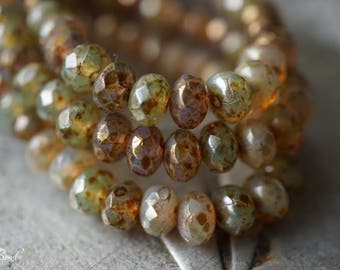 Champagne Mix, Rondelle Beads, Czech Beads, Beads