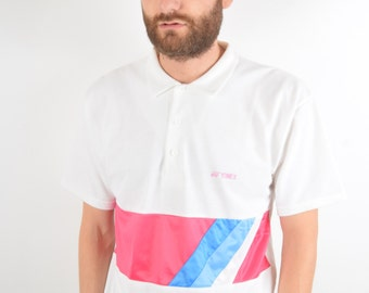 Vintage Yonex Tennis T-shirt Made in Denmark Size L (1665)