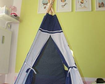 Children tent, teepee, tent, Tepee set 2 pillows, floor mat