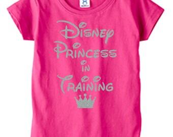 Disney Princess in Training Shirt/Tshirt. Disney Princess in Training. Princess in Training Girls Toddler T-shirt party shirt.  Cute gift!