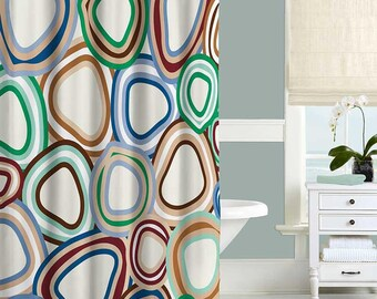 red and blue shower curtain. Abstract Shower Curtain  Seafoam Green Blue Brown Red Beige Bath Dahlia Navy Pink Gray
