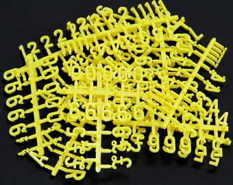 Plastic numbers etsy for Large pegboard letters