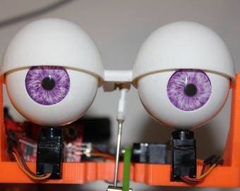 Animatronic Printed Blinking Eye and Side-to-Side eye mechanism for Puppets