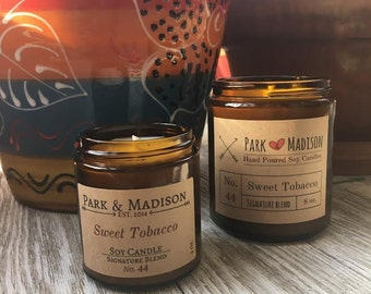 Sweet Tobacco Soy Candle,  Soy Candles Handmade, Scented Soy Candle, Man Candles, Gifts for Him
