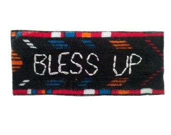 BLESS UP || Hand Embroidery Patches for Backpacks Punk Patches for Jackets Patches Punk Vintage Clothing  Rad Clothing Punk Patch 0388