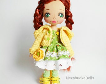 Handmade Doll, Art Doll, Ooak Doll, Gift For Her, Rag Doll, Cloth Doll, Fabric Dolls, Soft Toys, Home Decor, Stuffed Toys.