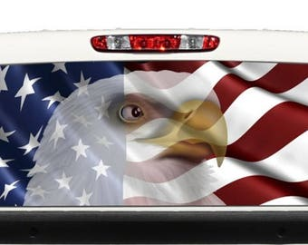 American Flag Attack Eagle 2 Rv Motorhome Wall Window Graphic