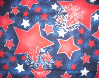 Fourth of July Red White and Blue Fabric Fabric Traditions 20 inches