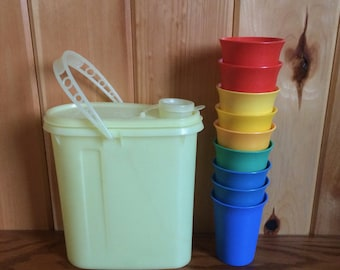 Tupperware 109 Glasses - Tuperware 587-9 Beverage Buddy - Tupperware Juice Container - Tupperware Bell Glasses - Tupperware