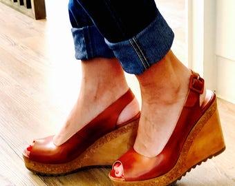 P&M Paloma Wedge Sandals