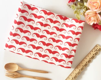MUSTACHE Cotton Fabric by the Yard, Nordic Fabric, Nordic Mustache, Quilting Fabric Apparel Fabric 100% Cotton Fabric