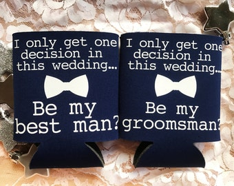 Funny Groomsmen Best Man Cooler Set - Groomsmen Best Man Proposal - Groomsman Gift - Best Man Gift - Fun Wedding Favors - Gift for Grooms