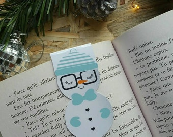 Snowman / / 1 magnetic bookmark