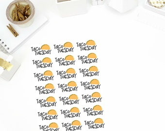Taco Tuesday Stickers! Perfect for your Erin Condren Life Planner, calendar, Paper Plum, Filofax!