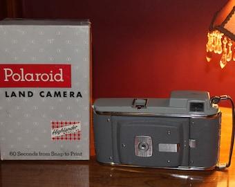 1950 Polaroid Highlander Land Camera With Box