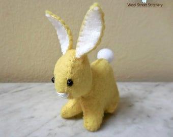 Easter bunny, stuffed bunny rabbit, handmade felt bunny, Easter decoration, felt stuffed animal