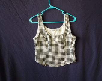 90s Gingham Crop Top