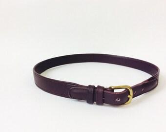 Vintage coach belt Vintage leather belt british burgundy belt medium leather belt brown leather belt vintage leather coach belt size m belt
