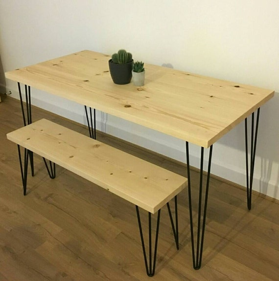 Office Kitchen Tables: 4ft Industrial/Modern Dining Table / Office Desk / Kitchen