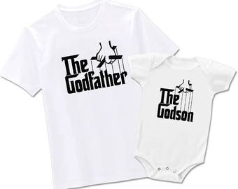 The Godfather and Godson-Godfather and Goddaughter-Godmother and Goddaughter-Godmother and Godson- Matching T-shirts, Each Sold Seperately
