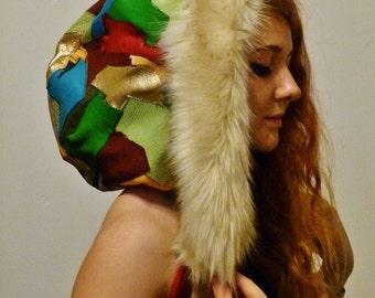 Reversible Leather Festival Hood