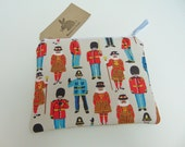 Handmade Mini Makeup Bag Cath Kidston London Guards Friends Soldier Pencil or Gadget Case