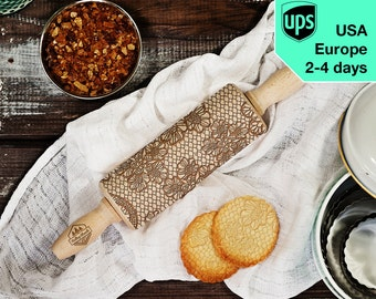 Lace - MINI laser engraved rolling pin