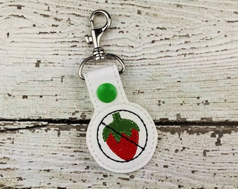Berry Allergy Keychain