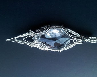 Silver Swarovski teardrop Pendant