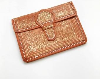 Gold Ornate Wallet Clutch