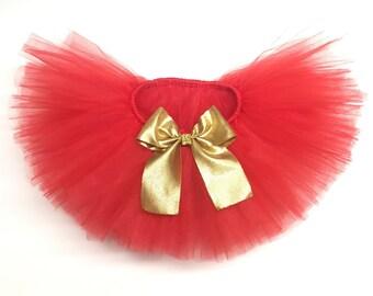 Girls red Tutu, Toddler red Tutu, Infant Red Tutu, Newborn Red Tutu, Red Tutu, Red tulle skirt,