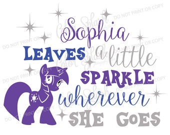 My little pony SVG, Rainbow sparkle pony, Cameo Cut File, Girls clothes Vinyl Cut file