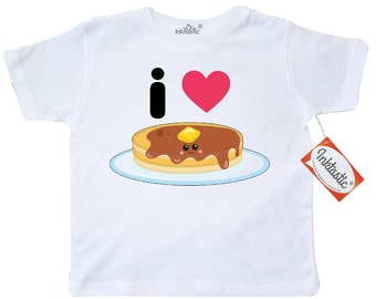 I Love Pancakes Toddler T-Shirt by Inktastic